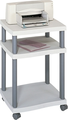 safco wave desk side printer stand 1860gr engineersupply. Black Bedroom Furniture Sets. Home Design Ideas