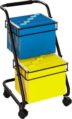 Safco Jazz Two Tier File Cart 5223BL