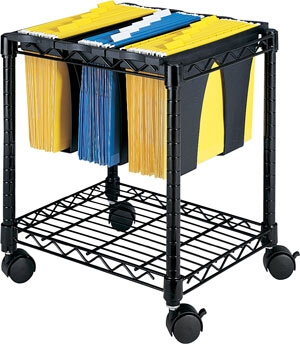 Safco Wire File Cart with Tubs 5228BL