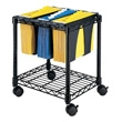 Safco Wire File Cart with Tubs 5228BL (Black) ES3341