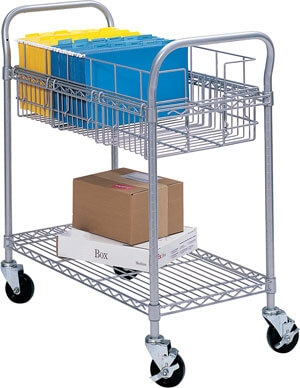 Safco 24 Wire Mail Cart 5235GR
