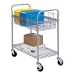 "Safco 24"" Wire Mail Cart 5235GR"