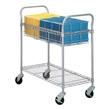 "Safco 36"" Wire Mail Cart 5236GR (Gray) ES3343"