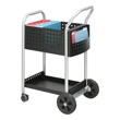 "Safco Scoot 20"" Mail Cart 5238BL (Black) ES3344"