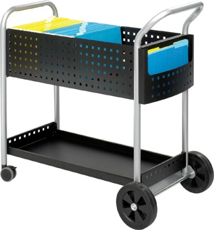 "Safco Scoot 32"" Mail Cart 5239BL"