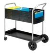 "Safco Scoot 32"" Mail Cart 5239BL (Black) ES3345"