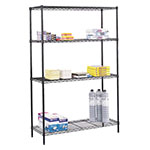 "Safco 48"" x 18"" Commercial Wire Shelving - Black - 5241BL ES3346"