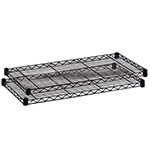 "Safco 36"" x 18"" Commercial Extra Shelf Pack - Pack of 2 - Black - 5243BL ES3348"