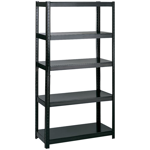 "Safco  36"" Wide 18"" Deep Boltless Shelving - Black - 5245BL"