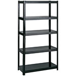 "Safco 36"" Wide 18"" Deep Boltless Shelving - Black - 5245BL ES3349"