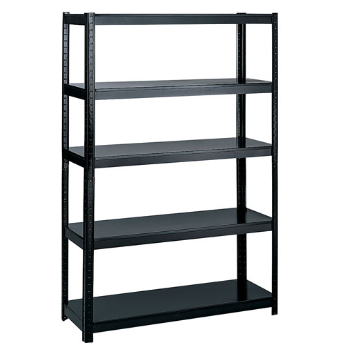 "Safco 48"" Wide 18"" Deep Boltless Shelving - Black - 5246BL"