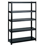 "Safco 48"" Wide 18"" Deep Boltless Shelving - Black - 5246BL ES3350"