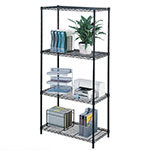 "Safco 36"" x 18"" Commercial Wire Shelving - Black - 5276BL ES3353"