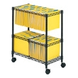 Safco 2-Tier Rolling File Cart 5278BL (Black) ES3355
