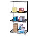 "Safco 36"" x 24"" Industrial Wire Shelving - Black - 5288BL ES3362"