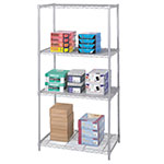 "Safco 36"" x 24"" Industrial Wire Shelving - Metallic Gray - 5288GR ES3363"