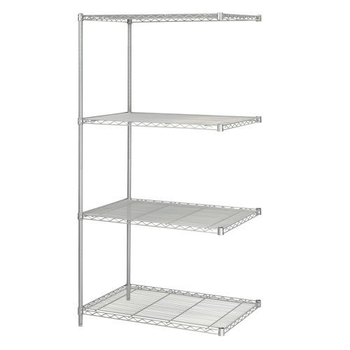 "Safco 36"" x 24"" Industrial Add-On Unit Metallic Gray - 5289GR"