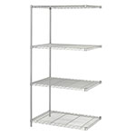 "Safco 36"" x 24"" Industrial Add-On Unit Metallic Gray - 5289GR ES3365"
