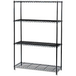 "Safco 48"" x 18"" Industrial Wire Shelving - Black - 5291BL ES3368"