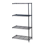 "Safco 48"" x 18"" Industrial Add-On Unit - Black - 5292BL ES3370"