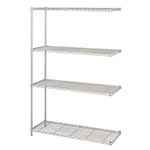 "Safco 48"" x 18"" Industrial Add-On Unit - Metallic Gray - 5292GR ES3371"