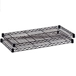 "Safco 48"" x 18"" Industrial Extra Shelf Pack - Black - 5293BL ES3372"