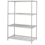 "Safco 48"" x 24"" Industrial Wire Shelving - Metallic Gray - 5294GR ES3375"