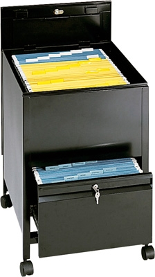 Safco Legal Size Locking Mobile Tub File with Drawer