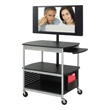 Safco Scoot Open Flat Panel Multimedia Cart 8940BL (Black) ES3510
