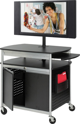 Safco Scoot Flat Panel Multimedia Cart 8941BL ES3511