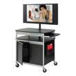 Safco Scoot Flat Panel Multimedia Cart 8941BL (Black) ES3511