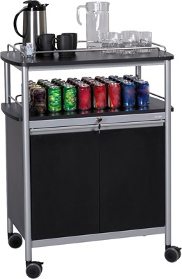 Safco Mobile Beverage Cart 8964BL ES3522