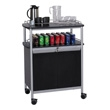 Safco Mobile Beverage Cart 8964BL (Black) ES3522