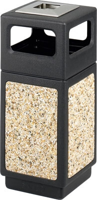 Safco Canmeleon Aggregate Series Receptacle with Side Opening and Urn 9470NC
