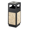 Safco Canmeleon Aggregate Series Receptacle with Side Opening and Urn 9470NC (Black) ES3527