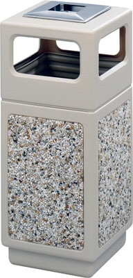 Safco Canmeleon Aggregate Series Receptacle with Side Opening and Urn 9470TN