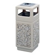 Safco Canmeleon Aggregate Series Receptacle with Side Opening and Urn 9470TN (Tan) ES3528