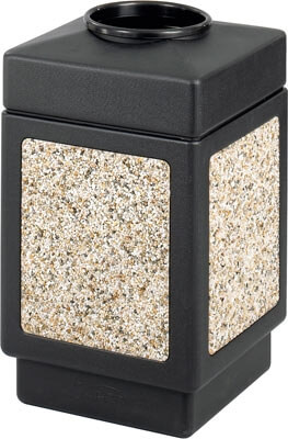 Safco Canmeleon Aggregate Series Receptacle with Top Opening 9471NC