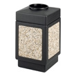 Safco Canmeleon Aggregate Series Receptacle with Top Opening 9471NC (Black) ES3529