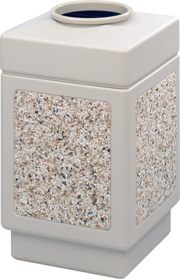 Safco Canmeleon Aggregate Series Receptacle with Top Opening 9471TN