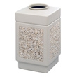 Safco Canmeleon Aggregate Series Receptacle with Top Opening 9471TN (Tan) ES3530
