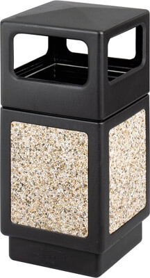 Safco Canmeleon Aggregate Series Receptacle with Side Opening 9472NC