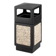 Safco Canmeleon Aggregate Series Receptacle with Side Opening 9472NC (Black) ES3531