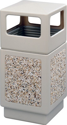 Safco Canmeleon Aggregate Series Receptacle with Side Opening 9472TN