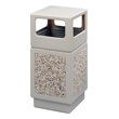 Safco Canmeleon Aggregate Series Receptacle with Side Opening 9472TN (Tan) ES3532