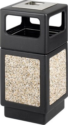 Safco Canmeleon Aggregate Series Receptacle with Side Opening and Urn 9473NC