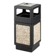 Safco Canmeleon Aggregate Series Receptacle with Side Opening and Urn 9473NC (Black) ES3533
