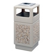 Safco Canmeleon Aggregate Series Receptacle with Side Opening and Urn 9473TN