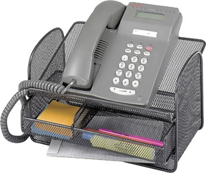 Safco Onyx Mesh Telephone Stand With Drawer (Qty.5) ES3639 2160BL