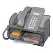 Safco Onyx Mesh Telephone Stand With Drawer (Qty.5) 2160BL ES3639